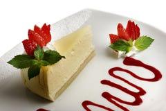 Torta di formaggio della fragola Immagini Stock