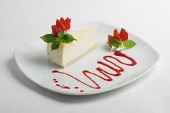 Torta di formaggio della fragola Fotografia Stock