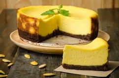Torta di formaggio della zucca Fotografia Stock
