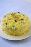 Torta di formaggio di Chadder Fotografia Stock