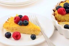 Torta di formaggio libera di ricotta del glutine Fotografia Stock Libera da Diritti