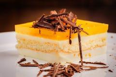 Torta di formaggio stratificata Fotografie Stock Libere da Diritti