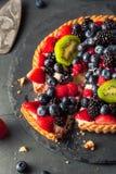 Torta di frutta casalinga della calce chiave Fotografia Stock