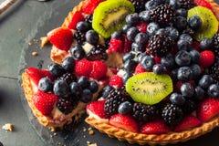 Torta di frutta casalinga della calce chiave Fotografie Stock Libere da Diritti