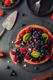 Torta di frutta casalinga della calce chiave Immagini Stock