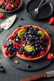 Torta di frutta casalinga della calce chiave Fotografia Stock Libera da Diritti