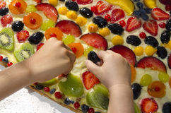 Torta di frutta Stock Image
