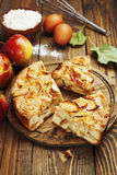 Torta di mele, Charlotte Fotografia Stock