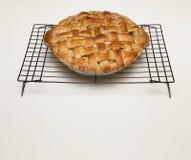 Torta di mele con la crosta della grata e lo spazio della copia Immagini Stock Libere da Diritti