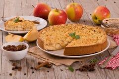 Torta di mele della briciola Immagine Stock