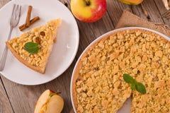Torta di mele della briciola Fotografie Stock