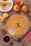 Torta di mele della briciola Fotografie Stock Libere da Diritti