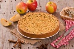 Torta di mele della briciola Immagini Stock