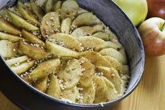 Torta di mele di cottura Fotografie Stock Libere da Diritti
