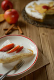 Torta di mele spruzzata con zucchero Fotografia Stock Libera da Diritti