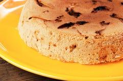 Torta di mele sul piatto arancio fotografia stock libera da diritti