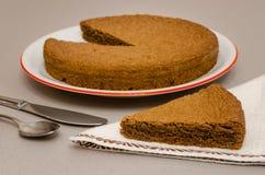 Torta Di nocciole, hazelnootcake van Piemonte Italië Stock Foto