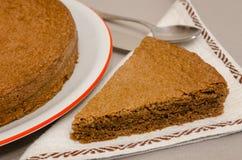 Torta Di nocciole, hazelnootcake van Piemonte Italië Royalty-vrije Stock Afbeeldingen