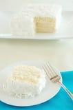 Torta di noce di cocco Fotografie Stock