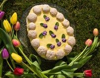 Torta di Pasqua Fotografia Stock Libera da Diritti