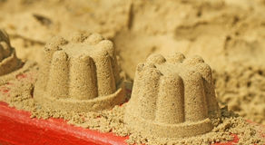 Torta di sabbia Immagini Stock Libere da Diritti
