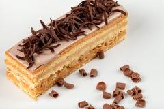 Torta di sabbia con caramello e cioccolato Fotografia Stock Libera da Diritti