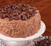 Torta di strato del cioccolato Fotografia Stock