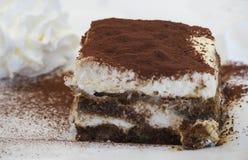 Torta di Tiramisu Fotografie Stock