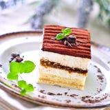 Torta di Tiramisu Fotografia Stock
