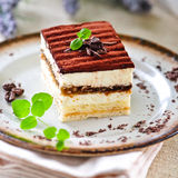 Torta di Tiramisu Fotografia Stock Libera da Diritti