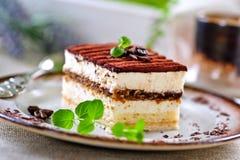 Torta di Tiramisu Fotografie Stock Libere da Diritti