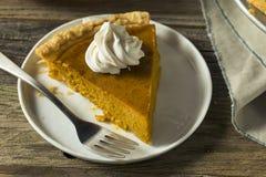 Torta di zucca arancio casalinga dolce di ringraziamento fotografie stock