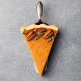Torta di zucca, crostata fatta per il giorno di ringraziamento fotografia stock libera da diritti