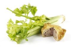 Torta do aipo e de carne de porco Fotos de Stock Royalty Free