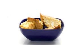 Torta do alho-porro da farinha de milho fotografia de stock