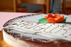 Torta do aniversário Fotografia de Stock Royalty Free