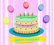 Torta do aniversário Imagem de Stock