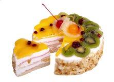 Torta do biscoito isolada Imagem de Stock