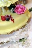 Torta do casamento foto de stock
