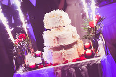 Torta 8 do casamento Foto de Stock Royalty Free
