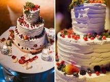Torta 8 do casamento Fotos de Stock