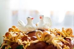 Torta 8 do casamento Cisnes brancas Fotografia de Stock Royalty Free