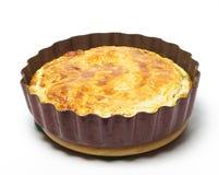 Torta do espinafre e do queijo imagens de stock royalty free