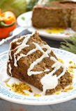 Torta do lentilha-cogumelo do vegetariano com mostarda e limão Imagens de Stock
