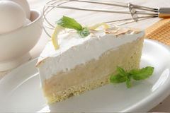 Torta do limão Imagem de Stock Royalty Free