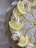 Torta do limão Fotografia de Stock Royalty Free