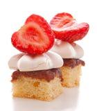Torta do meringue da morango Foto de Stock