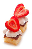 Torta do meringue da morango Fotografia de Stock