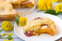 Torta do pêssego Fotografia de Stock Royalty Free