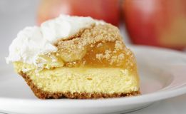 Torta do queijo de creme de Apple Imagem de Stock